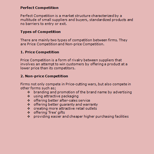 how market structures determine the pricing and output decisions of business Calculate the industry output and market share at the current price of pricing decisions in an oligopolydoc characteristics of the various market structures.