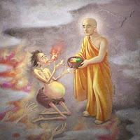 Maudgalyayana rescatando a su madre