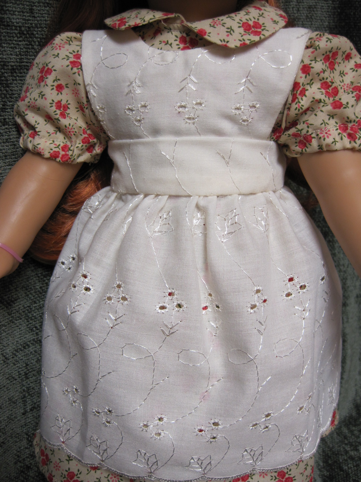 White lace apron ebay - Hailey Looks Absolutely Adorable In Her New Duds Above Is A Closer Pic Of The Apron Pinafore The Material Is Nice Quality And The