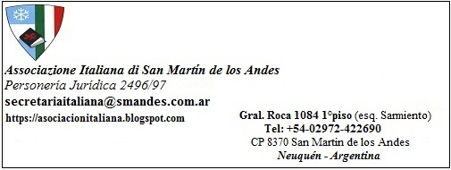 Asociación Italiana, San Martín de los Andes, Patagonia, Argentina