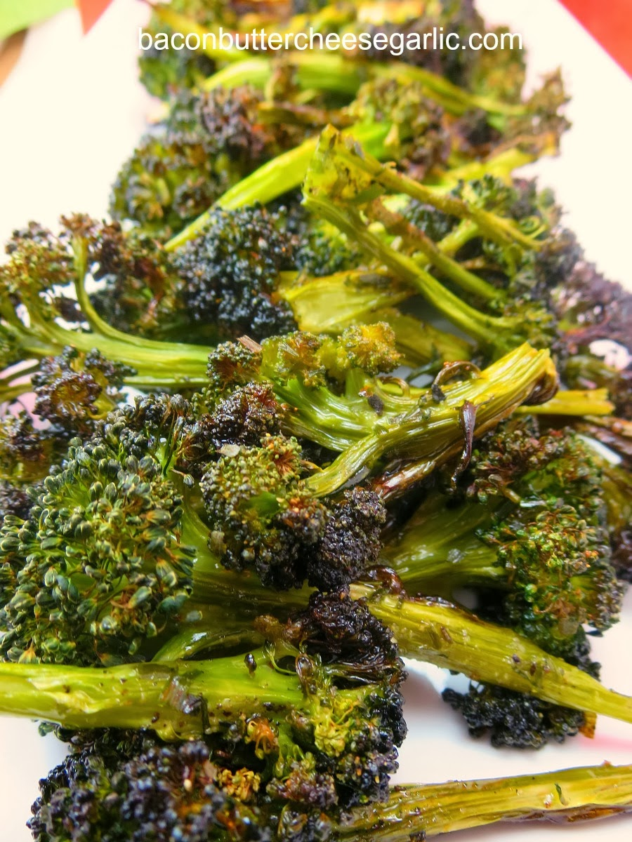 Bacon, Butter, Cheese & Garlic: Crispy Roasted Broccoli