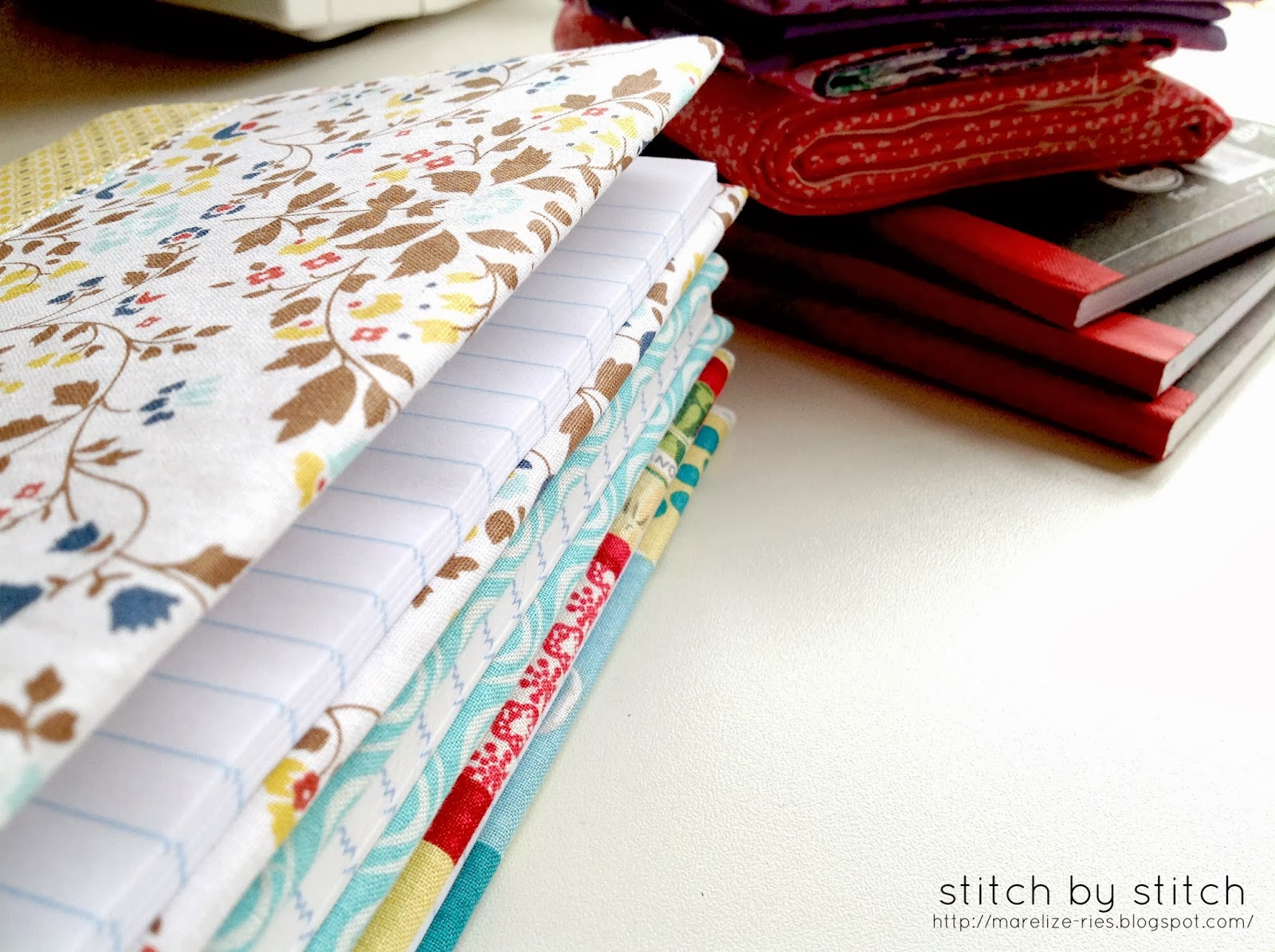 Cover Book In Fabric : Stitch by fabric book cover tutorial