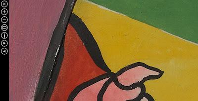 Pormenor do quadro Lenço dos Amores: Deep Zoom Paula Rego Anos 70