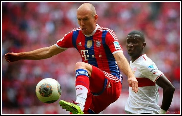 ROBBEN Bayern Munchen Soccer Football