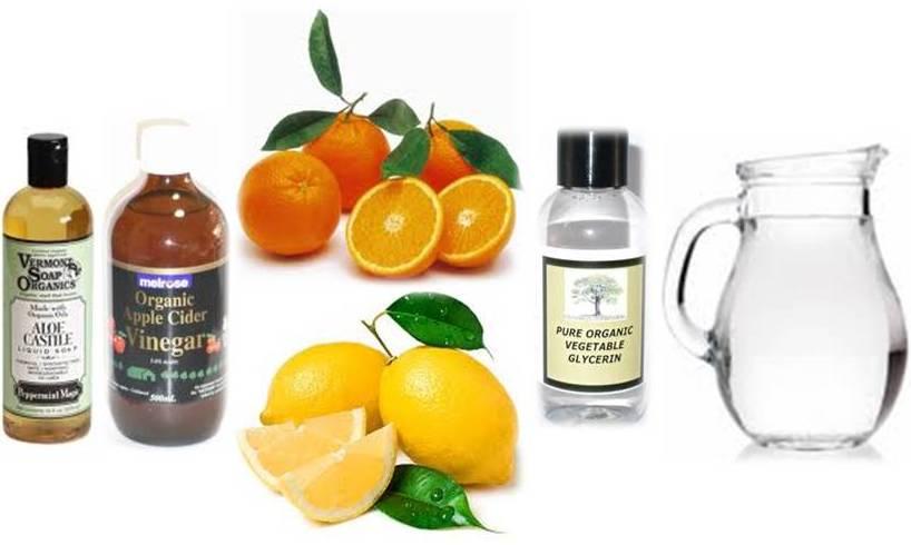 Ingredients in organic shampoo