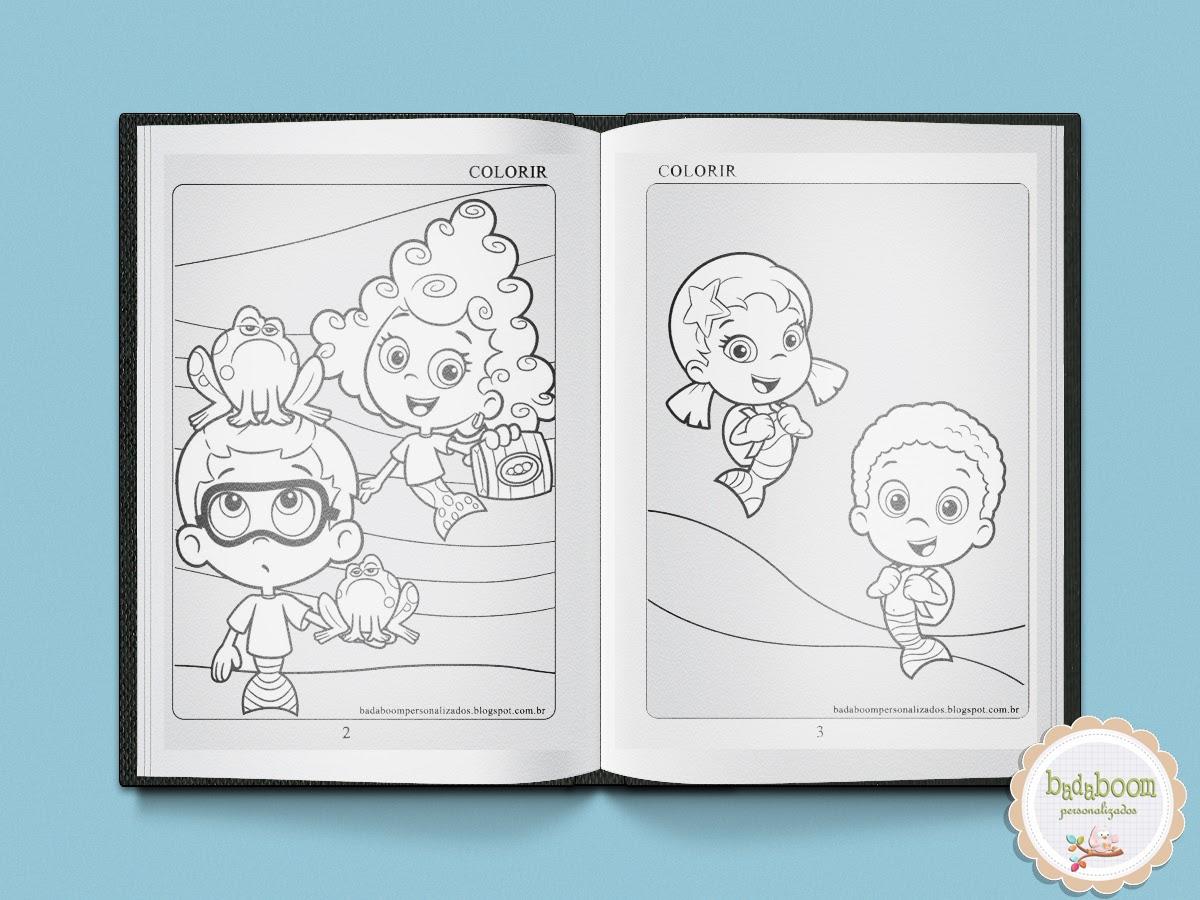 Bubble Gupies, desenhos, free, grátis, caderno de colorir
