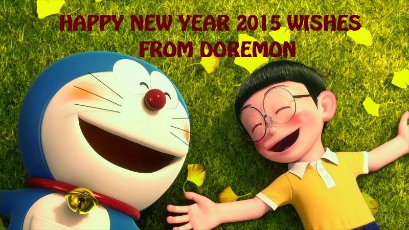New year 2015 Doremon wallpaper for kids