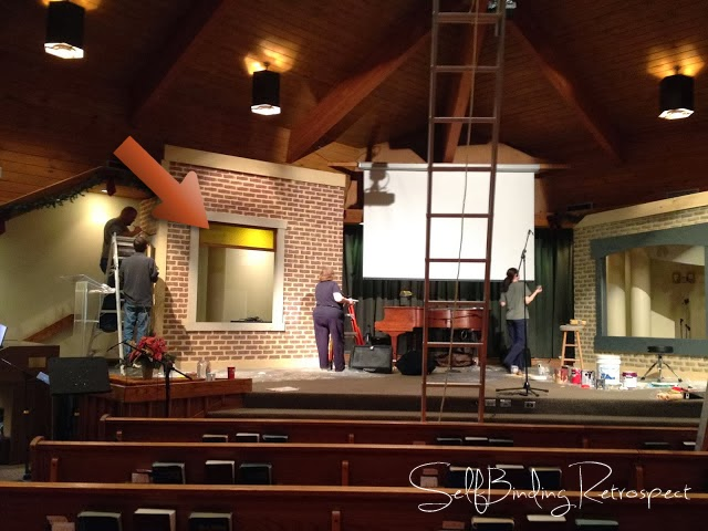 set building, hanover missionary church, christmas eve service