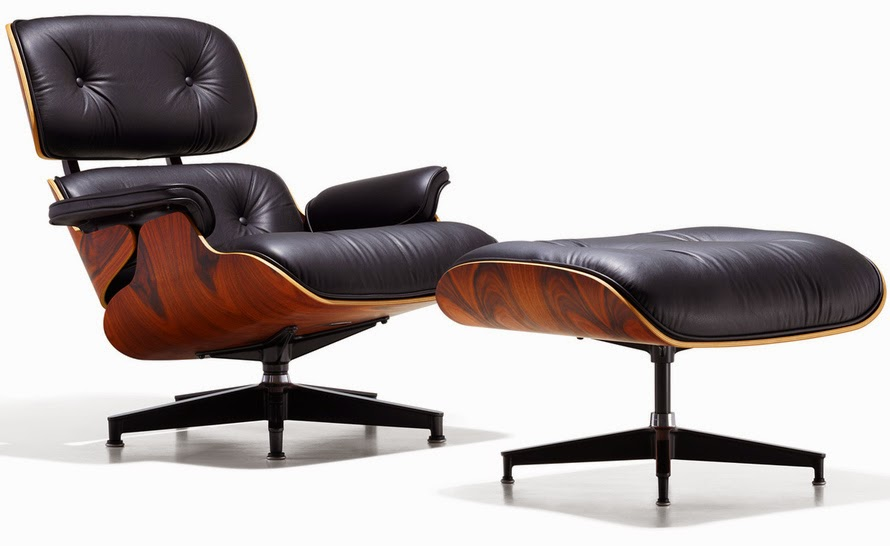 Herman Miller's Eames Lounge Chair and Ottoman.
