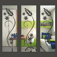 foto de espelhos decorativos para parede.