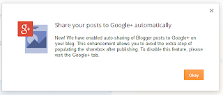 Share yor post to Google+ automatically