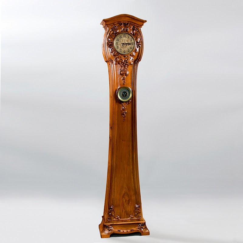 French Art Nouveau Floor Clock by Majorelle