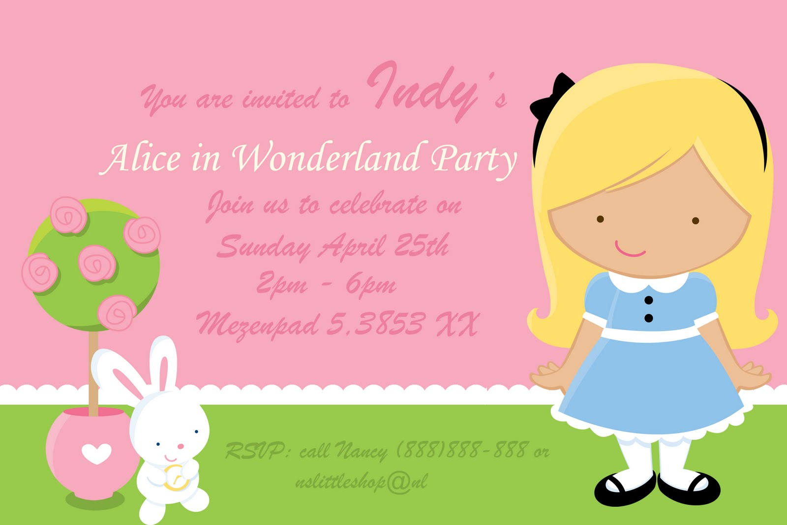 nslittleshop party decorations and more: Alice in Wonderland