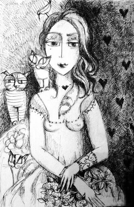 """Portrait de femme. """" Mélancolie"""""""