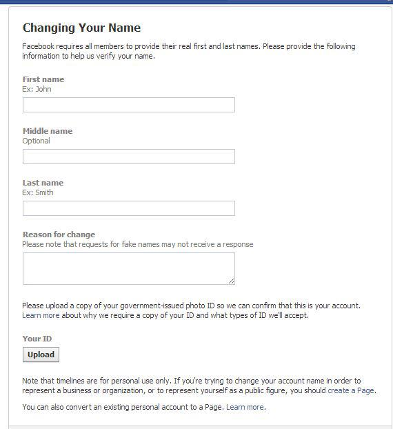 How To Change Facebook Profile Name After Name Limits Reached