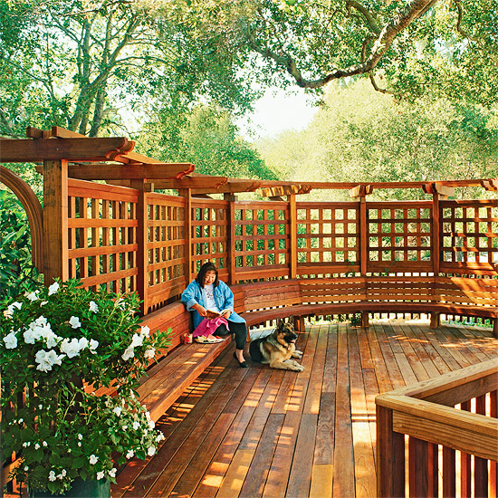 12 diy trellis designs for privacy for Wooden garden screen designs