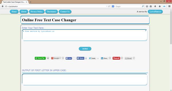 Online Text Case Changer