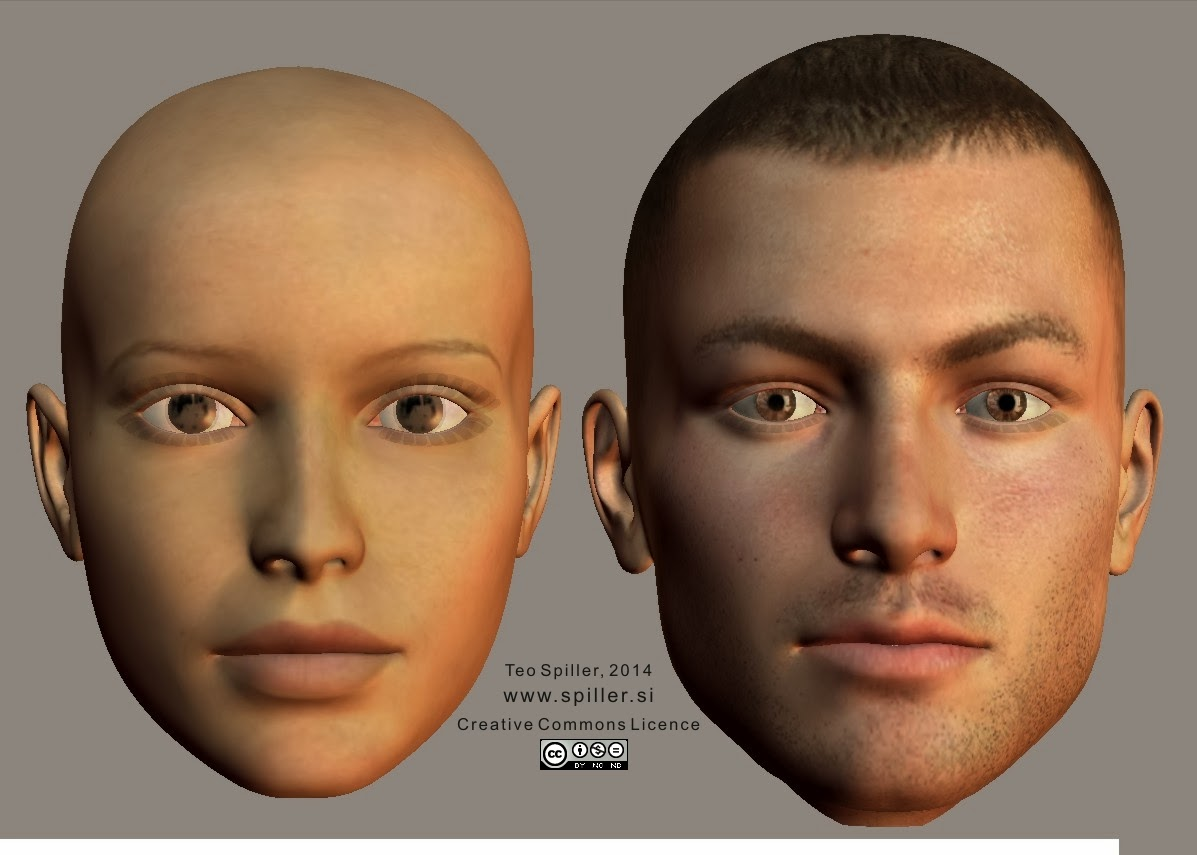 Face Shape with Defined Temples