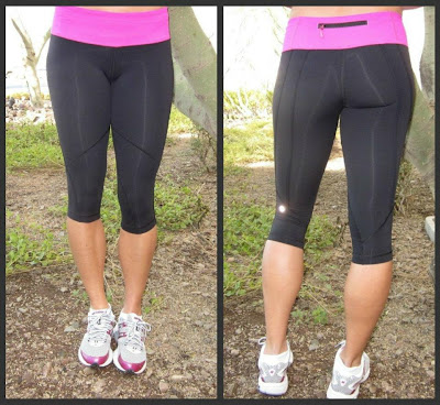 lululemon run for it crops in black