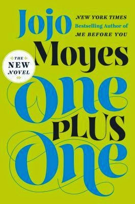 One Plus One cover description: Vibrant green background and on the foreground the title is written in black and blue. There's no image, just the title and uniform background.