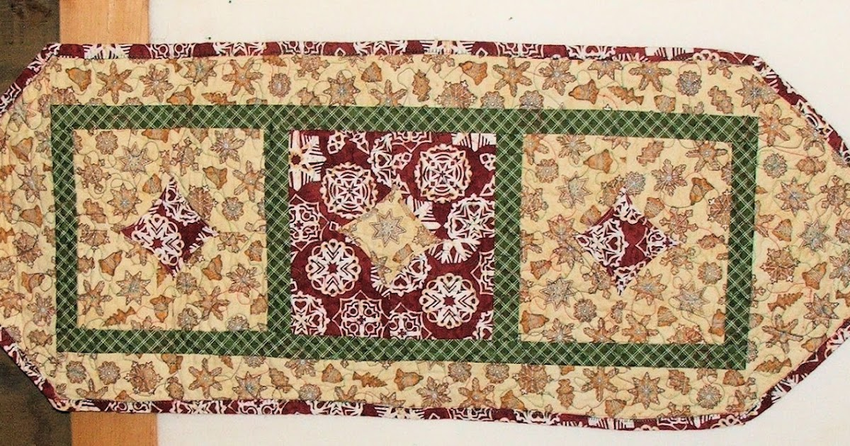 Angel kitty quilts 10 minute block table runner for 10 minute table runner directions