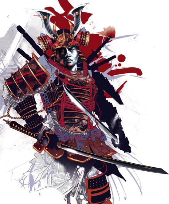 Kent Floris ilustrações incríveis arte Samurai