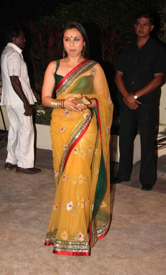 Rani mukherjee hot transparent saree think, that