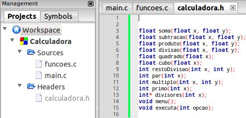 Como criar um cabeçalho .h em C