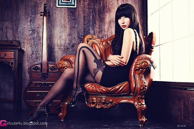 2 Cheon Bo Young in Black-Very cute asian girl - girlcute4u.blogspot.com