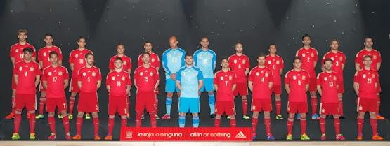 Nueva equipación de la Selección Española para el Mundial 2014