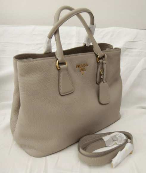 prada vitello daino side-zip twin tote