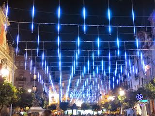 Sevilla - Alumbrado navideño 2014 - Plaza del Salvador
