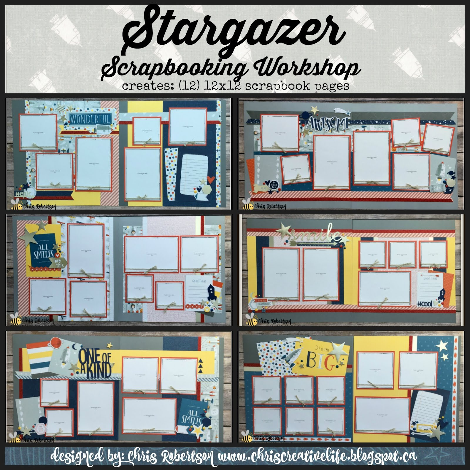 Stargazer Scrapbooking Workshop Guide & E-files