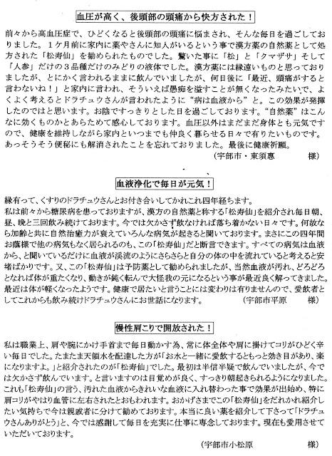 くすりのドラチュウ 松寿仙体験談(2)