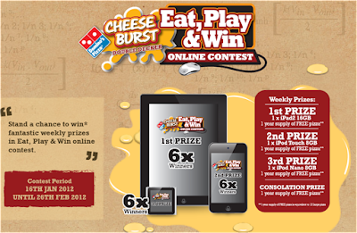 Domino's Pizza 'Eat, Play & Win' Contest