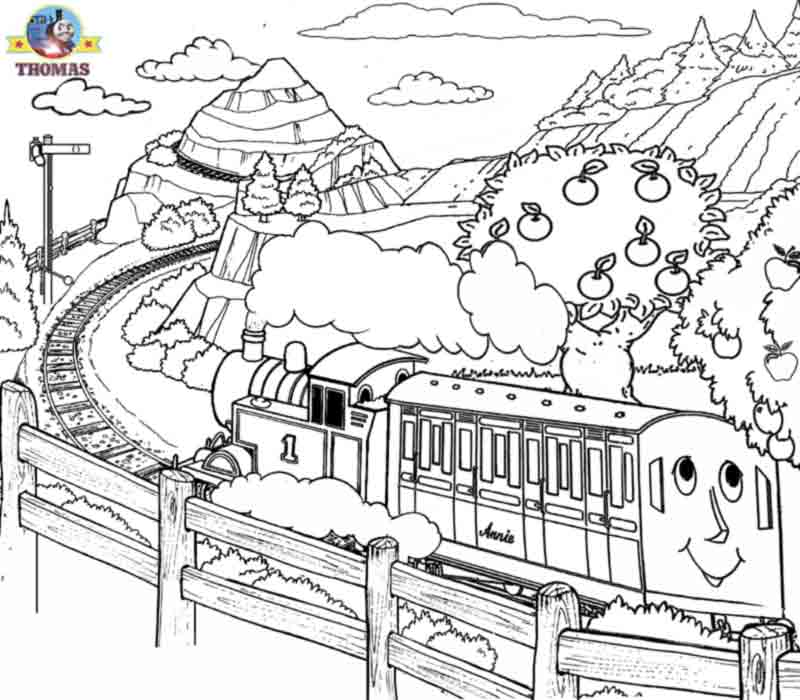 Apple Tree Coloring Page Free