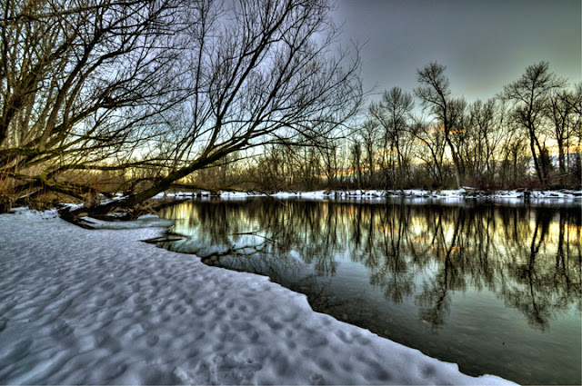 boise river winter scene