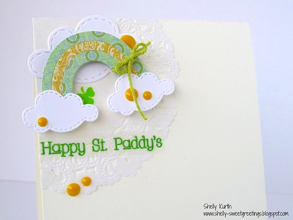 SRM Stickers Blog - St. Patrick's Day Card by Shelly - #card #stickers #doilies #St.Patrick'sDay