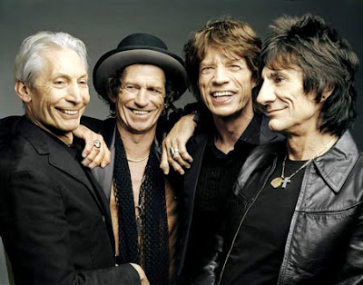 The Rolling Stones felices con bellas sonrisas