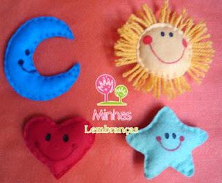 Sol, estrela, coração e lua