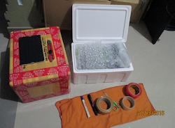 PACKING PAKET MENGGUNAKAN BOX STEREO FOAM DOBLE SAFTY