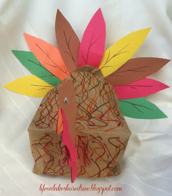 "alt=""Kids Craft Brown Paper Bag Turkey Craft Tutorial"""