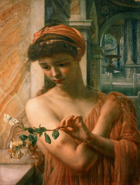 Psyche,Edward Poynter,garden of love