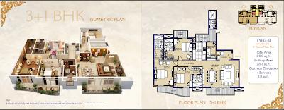 ats in mohali floor plan