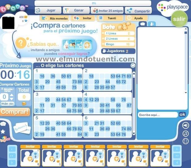 Juego Bingo Tuenti