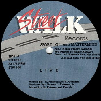 """Sport """"G"""" And Mastermind – Live – 12"""" – 1988"""