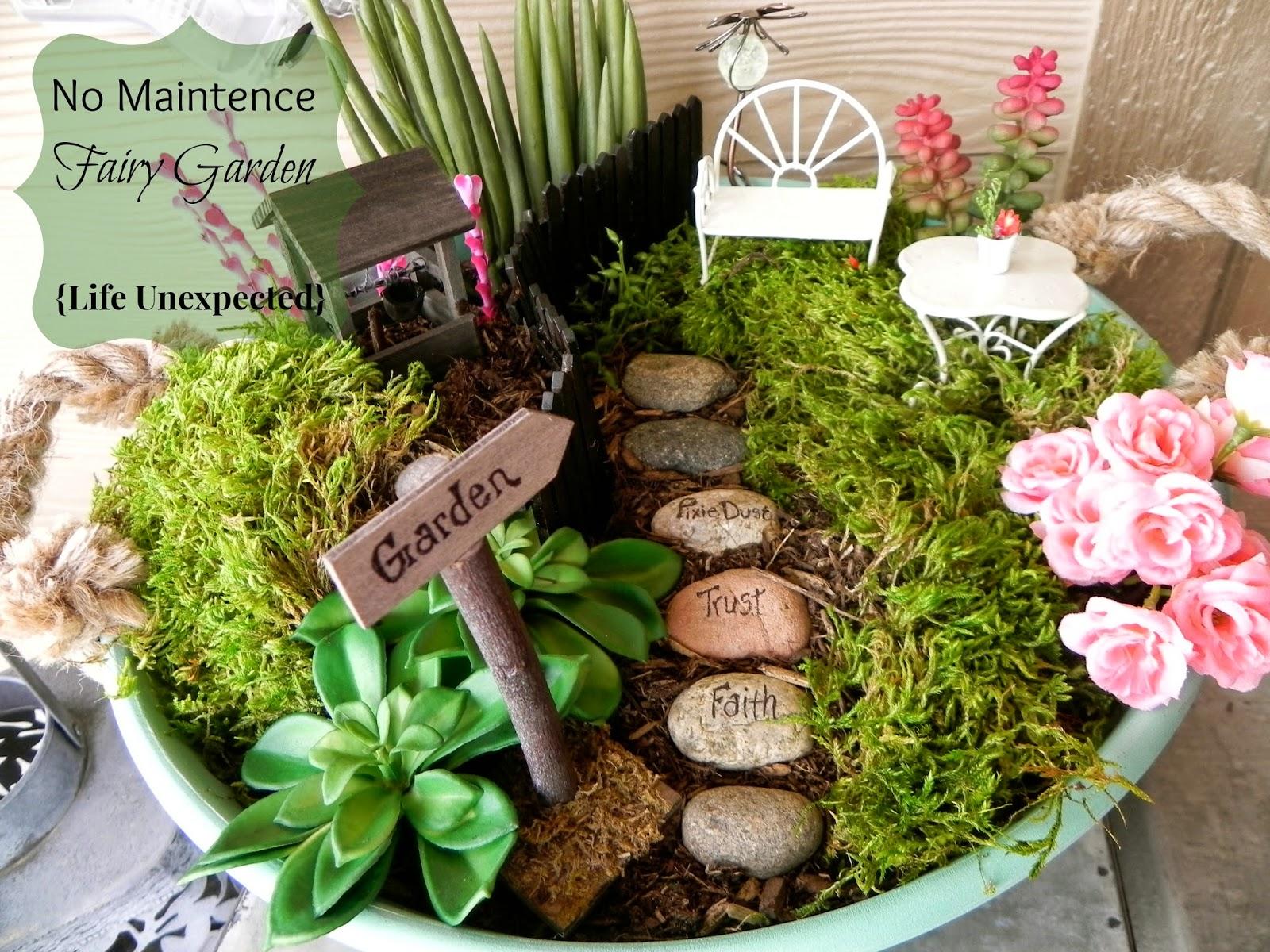 Life Unexpected No Maintenance Fairy Garden