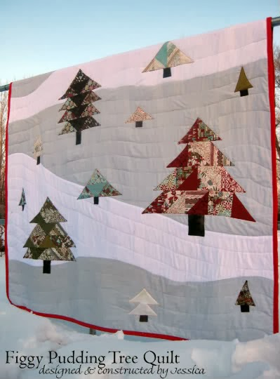 Christmas Tree Quilt Wall Hanging