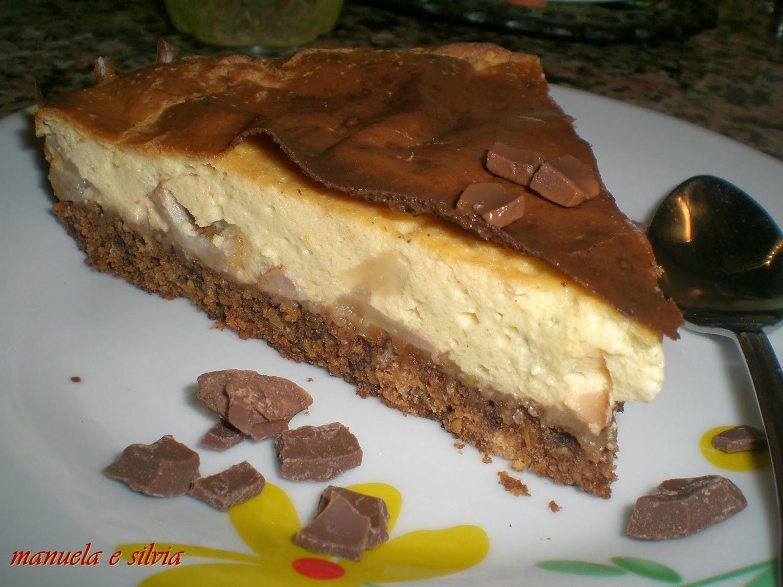 cheese cake alle pere e crema leggera alla cannella