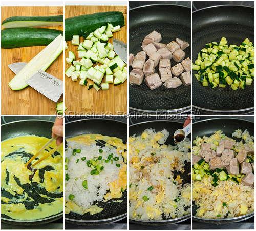 吞拿魚炒飯製作圖 Tuna Fried Rice Procedures